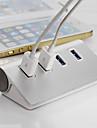 PC를 노트북을위한 고품질 은색의 USB 3.0 허브 4 포트 스플리터 어댑터 알루미늄 허브