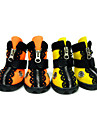 Dog Shoes & Boots Waterproof Winter Spring/Fall Solid Orange Yellow Rubber