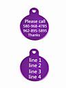 Placas de Identificacao - Presente personalizado - Vermelho/Preto/Verde/Azul/Rosa/Purpura/Dourado/Prateado - de Aluminio