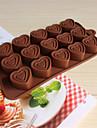 초콜릿에 대한 내열 접시 실리콘 심장 모양의 베이킹 금형