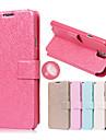 Pour Samsung Galaxy Note Porte Carte / Avec Support / Clapet Coque Coque Intégrale Coque Couleur Pleine Cuir PU Samsung Note 4