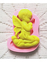 Bakeware Silicone Praying Boy Baking Molds for Fondant Candy Chocolate Cake (Random Colors)