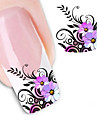 1 pcs Flower / Abstract / Fashion Water Transfer Sticker / 3D Nail Stickers Daily
