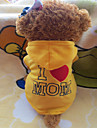 Dog Hoodie Dog Clothes Yellow Rose Costume For Pets