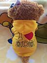 Собака Толстовки Одежда для собак Флис Лето Желтый Розовый Костюм Для домашних животных