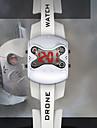 Hommes Montre de Sport Numérique LED Bande Bracelet Montre Noir / Blanc