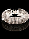 Stříbrná Zlatá Křišťál Tenisový řetězec Náramek - Umělé diamanty Řetěz, Tenis, Osobní průkaz Náramky Zlatá / Stříbrná Pro Svatební Párty Zvláštní příležitosti