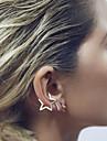 Mulheres Estrela Brincos Curtos Punhos da orelha - Fashion Estilo simples Dourado Brincos Para Casamento Festa Diario