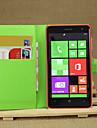 lichia em todo suporte aberto telefone de couro carteira cartao apropriado para Nokia Lumia 625 (cores sortidas)