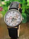 Жен. Модные часы Кварцевый PU Группа Черный Красный Коричневый