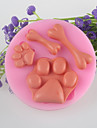 кости ноги помадные торт шоколадный силиконовые формы, отделочные инструменты посуда