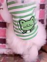 Кошка Собака Футболка Одежда для собак В полоску Мультипликация Зеленый Хлопок Костюм Для домашних животных Косплей Свадьба