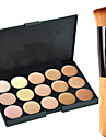 15 Concealer/Contour Cream-to-powder Face Makeup Concealer Palette ShineMore 15 Colors Cream Makeup Palette Come With an Oblique Head Powder Brush