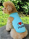 Cat Dog Shirt / T-Shirt Dog Clothes Heart Letter & Number Orange Gray Blue Pink Cotton Costume For Pets Cosplay Wedding