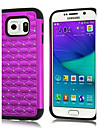 Case For Samsung Galaxy Samsung Galaxy Case Shockproof Rhinestone Back Cover Geometric Pattern PC for S6 edge S6
