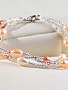 Women\'s Pearl Strand Bracelet Wedding Party Elegant Feminine Style