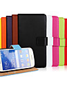 Case For Samsung Galaxy Samsung Galaxy Case Card Holder Wallet with Stand Flip Full Body Cases Solid Color PU Leather for Ace Style LTE