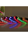 Dog Collar LED Lights Waterproof Zebra Nylon Yellow Red Green Blue Pink
