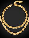 Homme Femme Plaque or Alliage Mauvais Oeil Colliers decoratifs Bracelet Pour Mariage Soiree Quotidien Decontracte Sports Cadeaux de