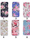 Colourful Flower Ultra Thin View Window Flip Cover PU Leather Case for iPhone 5C(Assorted Colors)