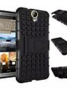 Кейс для Назначение HTC Кейс для HTC Защита от удара со стендом Кейс на заднюю панель броня Твердый ПК для