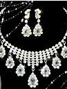 Κοσμήματα Σετ - Cubic Zirconia, Επάργυρο, Προσομειωμένο διαμάντι Κρεμαστό Πάρτι, Μοντέρνα Περιλαμβάνω Λευκό Για / Cercei / Κολιέ