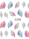5 Transferencia de agua adesivo Etiquetas de unhas 3D Abstracto Fashion Adoravel Diario Alta qualidade