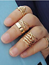 Women's Jewelry Set Midi Rings Fashion Gold Plated Alloy Jewelry For Wedding Party Daily Casual