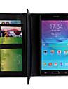 Для Samsung Galaxy Note Кошелек / со стендом Кейс для Чехол Кейс для Один цвет Искусственная кожа Samsung Note 4