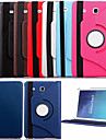 Case For Samsung Galaxy Samsung Galaxy Case with Stand Flip 360° Rotation Full Body Cases Solid Color PU Leather for Tab E 9.6