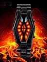 SKMEI Homme Quartz Montre Bracelet Montre de Sport Japonais Etanche LED Acier Inoxydable Bande Luxe Mode Noir
