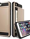 Назначение iPhone X iPhone 8 iPhone 8 Plus iPhone 6 iPhone 6 Plus Чехлы панели Бумажник для карт Защита от удара Задняя крышка Кейс для