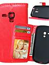 용 삼성 갤럭시 케이스 지갑 / 카드 홀더 / 스탠드 / 플립 케이스 풀 바디 케이스 단색 인조 가죽 Samsung S5 Mini / S4 Mini / S4 / S3 Mini / S3