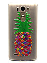 pineapple Pattern TPU Relief Back Cover Case for LG G3 Cases / Covers for LG