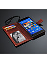 For Sony Case / Xperia Z3 Wallet / Card Holder / with Stand / Flip Case Full Body Case Solid Color Hard PU Leather for SonySony Xperia Z3