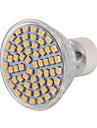 5W GU10 LED 스팟 조명 MR16 60 LED가 SMD 3528 장식 따뜻한 화이트 차가운 화이트 400-500lm 2800-3200/6000-6500K AC 220-240 AC 110-130V