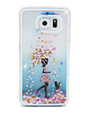 For Samsung Galaxy Case Flowing Liquid Case Back Cover Case Cartoon PC Samsung S6 edge / S6