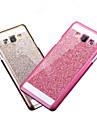 cobertura de po bling do caso da tampa do brilho telefone fashional tampa da caixa com logotipo caso ultra-fino para Samsung Galaxy A3 /