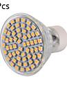 YWXLIGHT® 6 W LEDスポットライト 600 lm GU10 60 LEDビーズ SMD 3528 装飾用 温白色 クールホワイト 220-240 V, 5個 / RoHs