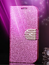 For iPhone 7 7 Plus 6s 6 Plus SE 5s 5 Case Rhinestone / with Stand / Glitter Shine Hard PU Leather