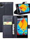 Case For ZTE ZTE Case Card Holder Wallet with Stand Flip Full Body Cases Solid Color Hard PU Leather for
