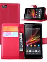 couro moda aleta caso da tampa carteira sujeira resistente para Sony Xperia m caso de telefone c1905 capa