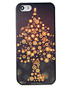 Christmas Style Light Tree Pattern PC Hard Back Cover for iPhone 5/5S