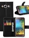 Para Samsung Galaxy Capinhas Porta-Cartao / Carteira / Com Suporte / Flip Capinha Corpo Inteiro Capinha Cor Unica Couro PU SamsungOn7 Pro