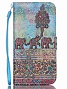 Case For Samsung Galaxy Samsung Galaxy Case Card Holder Wallet with Stand Flip Full Body Cases Elephant PU Leather for S6 edge plus S6