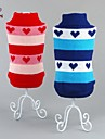 Cat Dog Sweater Dog Clothes Casual/Daily Hearts Red Blue Costume For Pets