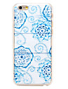 White Flowers Pattern Transparent PC Back Cover for iPhone 6