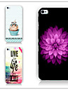 Flowers Pattern PC Phone Case Back Cover Case for iPhone5C