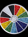 beadia 1BOX / 46g 유리 씨앗 구슬은 작은 유리 구슬 (aprx.1000pcs) 라운드 혼합 된 고체 색상을 2mm