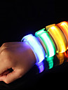LED Running Armband Reflective Band Safety High Visibility Nylon for Camping/Hiking/Caving Cycling/Bike Running - Orange Pink Green
